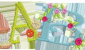 Näh- und Stick-Alphabet