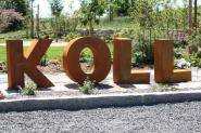 Deko Buchstaben in Metall Edelrost