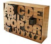 Buchstaben Kommode - Handgefertigt