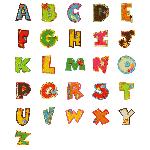 Buchstaben Stick-Aufnäher