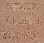 Buchstaben Lederstempel - BLOCK