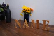 Namen aus Holzbuchstaben 8 cm - 10 Buchstaben