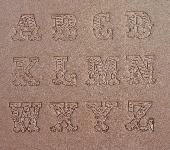 Buchstaben Lederstempel - LEDER ART