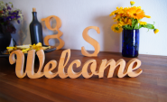 "Holzbuchstaben ""Welcome"""