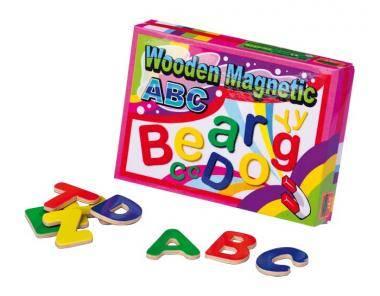 Bunte Magnetbuchstaben aus Holz