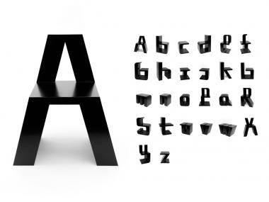 Design Buchstaben-Stuhl