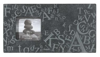 Schiefer Bilderrahmen mit Buchstaben - Quadratisch oder Rechteckig