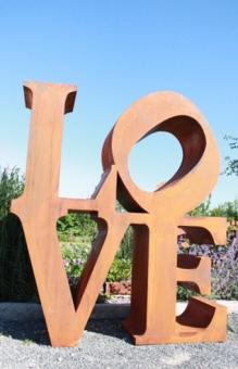 Deko Buchstaben LOVE in Metall Edelrost