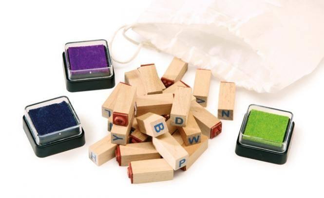 Holz Buchstaben Stempel