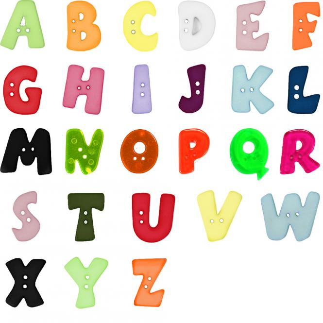Buchstabenknöpfe