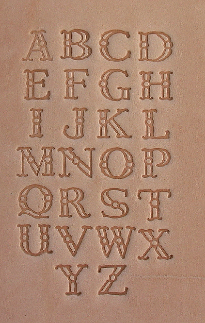 Buchstaben Lederstempel - CASTELL