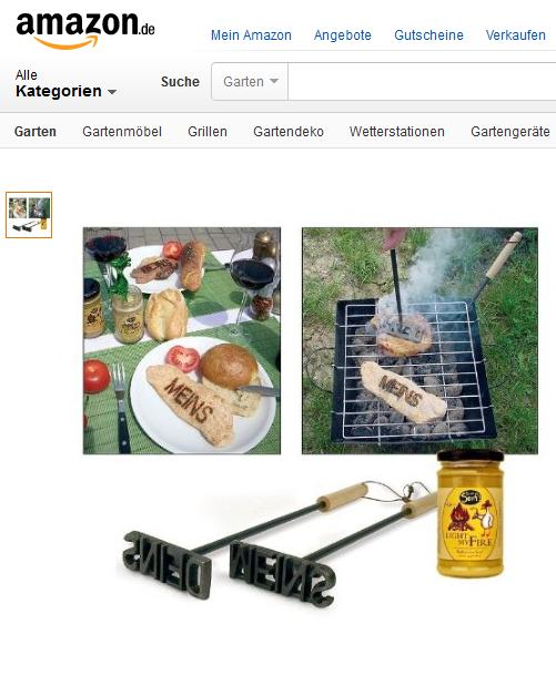2er Set Grill Brandeisen MEINS und DEINS