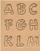 Buchstaben Lederstempel - HOLZFORM
