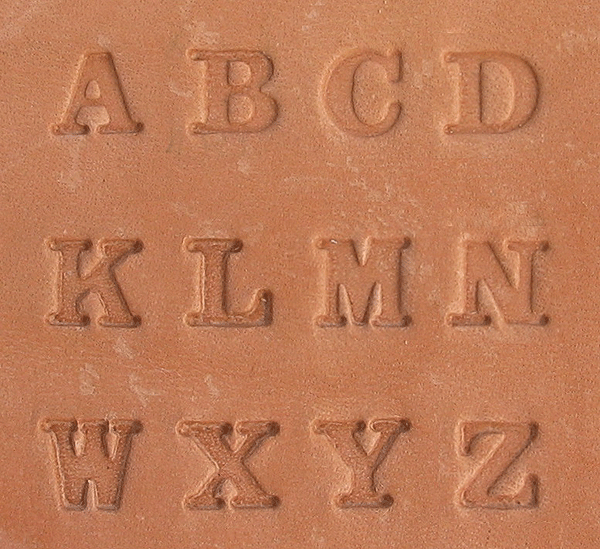Buchstaben Lederstempel - MODERN