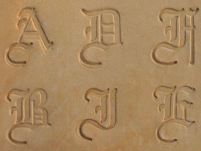 Buchstaben Lederstempel - OLD ENGLISH