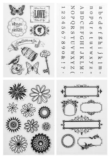 Buchstaben Silikonstempel-Set