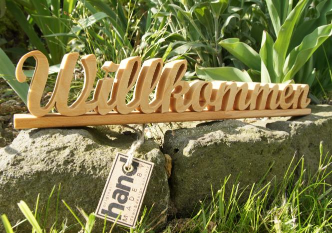 """Holzbuchstaben """"Willkommen"""""""