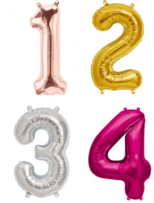 Zahlen Folienballons 86 cm