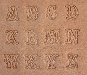 Buchstaben Lederstempel - SCRIPT