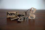 Holzschlüsselanhänger Buchstaben