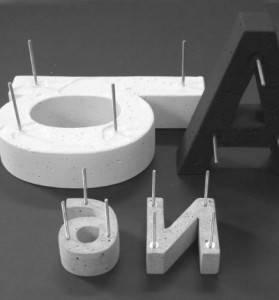 Justletters Buchstaben Aus Beton 24 Cm